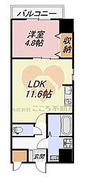 MANDARIN COURT 深井駅前(マンダリンコートフカイエキマエ) 3階1LDKの間取り