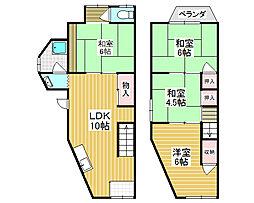 [テラスハウス] 大阪府堺市北区北花田町2丁 の賃貸【/】の間取り