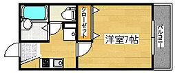 フォレント泉大津[2階]の間取り