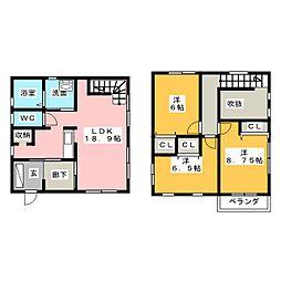 [一戸建] 愛知県名古屋市名東区藤里町 の賃貸【/】の間取り