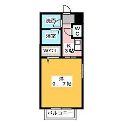 愛知県名古屋市北区楠味鋺5丁目の賃貸マンションの間取り