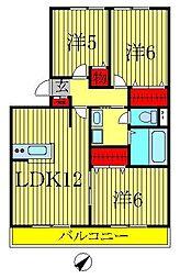 千葉県我孫子市柴崎台3丁目の賃貸アパートの間取り