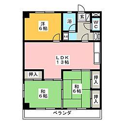 丸周マンション[3階]の間取り