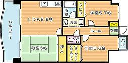 オロマーレ折尾南I[2階]の間取り