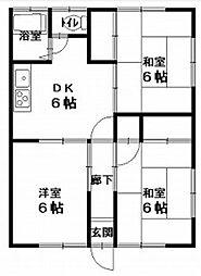 上宮田アパート[2F号室]の間取り