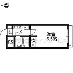 ルピエ四条403号室[4階]の間取り