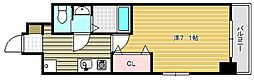 ラグゼ茨木II[206号室]の間取り