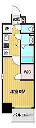 エスリード大阪城アクシス 6階1Kの間取り