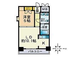 アロッジオ54[5階]の間取り