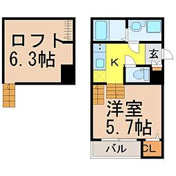 アルバーノ鶴舞Elegante(エレガント)[1階]の間取り
