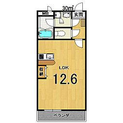 シャルレ11番館[202号室]の間取り