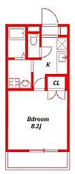アンプルールフェールユウファーム −Yu Farm[2階]の間取り