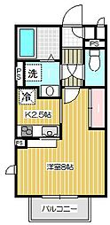 東京都品川区荏原7丁目の賃貸アパートの間取り