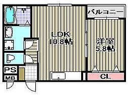 Natural-maison 1階1LDKの間取り