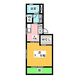 Flats[1階]の間取り
