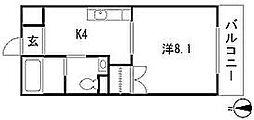 カサグランデII(DBS)[1階]の間取り