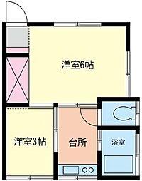 神奈川県座間市相模が丘4丁目の賃貸アパートの間取り