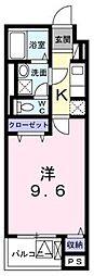 横浜市営地下鉄ブルーライン 湘南台駅 徒歩6分の賃貸アパート 4階1Kの間取り