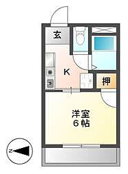 シティハイツ名城I[4階]の間取り