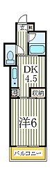 ジュネパレス柏第29[3階]の間取り