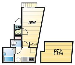 リーヴェルポート横浜Act1[301号室]の間取り