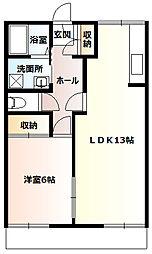 スターハイツA1階Fの間取り画像