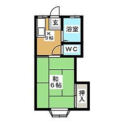 千寿荘2号館[2階]の間取り