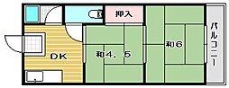 ニシマンション[201号室]の間取り