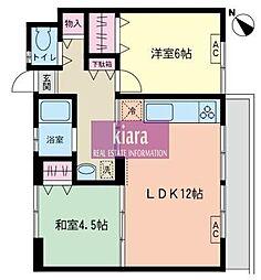 久良岐ヶ丘住宅[300号室]の間取り