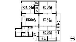 清和台住宅(公社分譲)[3階]の間取り