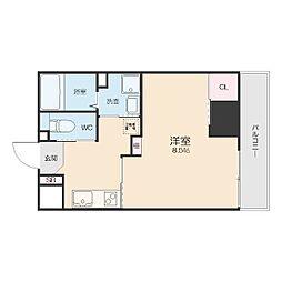 名鉄名古屋本線 山王駅 徒歩7分の賃貸アパート 3階1Kの間取り