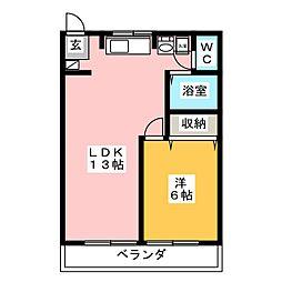 多恵第2ビル[2階]の間取り
