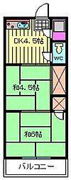 プチメゾン蕨[204号室]の間取り