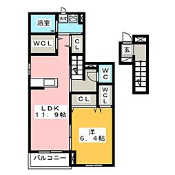 プルメリア[2階]の間取り