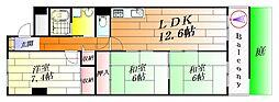 日興千里丘スカイマンションA棟[2階]の間取り
