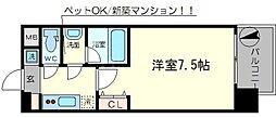スプランディッド難波II[3階]の間取り