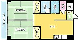 プレアール大田町[704号室]の間取り