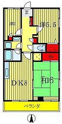 ヴェルデハイム[2階]の間取り
