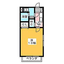 ユートピア マツバラ[4階]の間取り