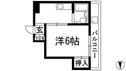 大阪府池田市石橋3丁目の賃貸マンションの間取り