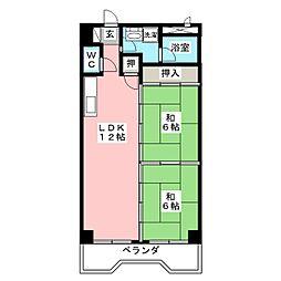 エステート23[6階]の間取り