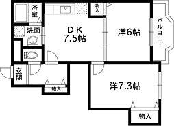ガーデンハイム[1階]の間取り