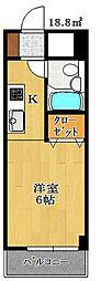 オネスティ船橋5番館[8階]の間取り