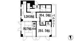 イワオビル10番館[3階]の間取り