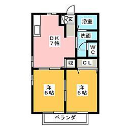 セピアコートI[1階]の間取り