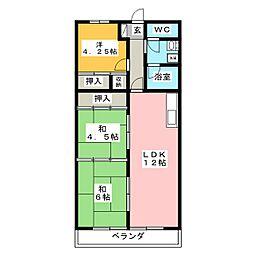 フルハウス住吉[3階]の間取り