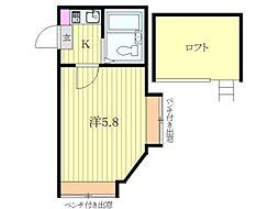 ケーオーハイム[1階]の間取り