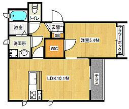京阪本線 伏見稲荷駅 徒歩4分の賃貸アパート 1階1LDKの間取り