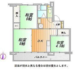 静岡県御殿場市中畑の賃貸マンションの間取り