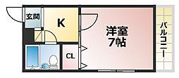 シャトープランス2[2階]の間取り